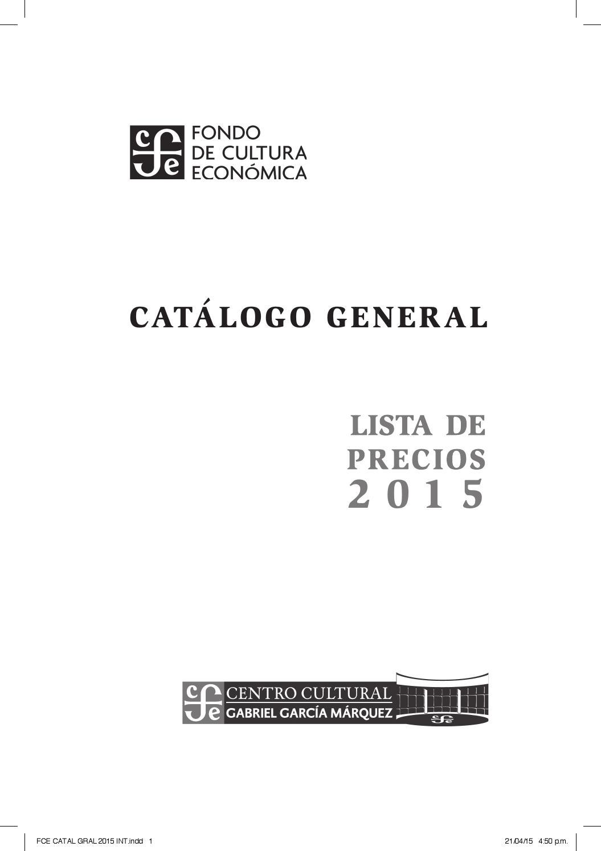 Fondo de Cultura Económica Lista de precio 2015 by Fondo de