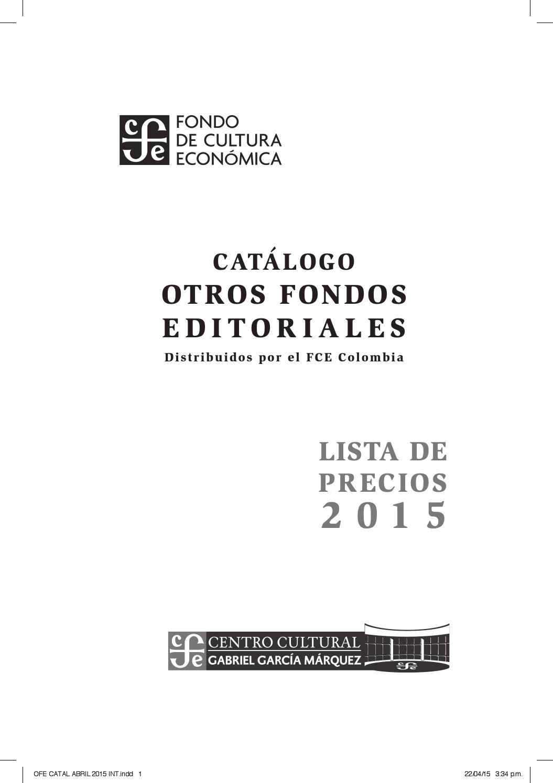 Lista de precios Otros Fondos Editoriales distribuidos por el FCE ...