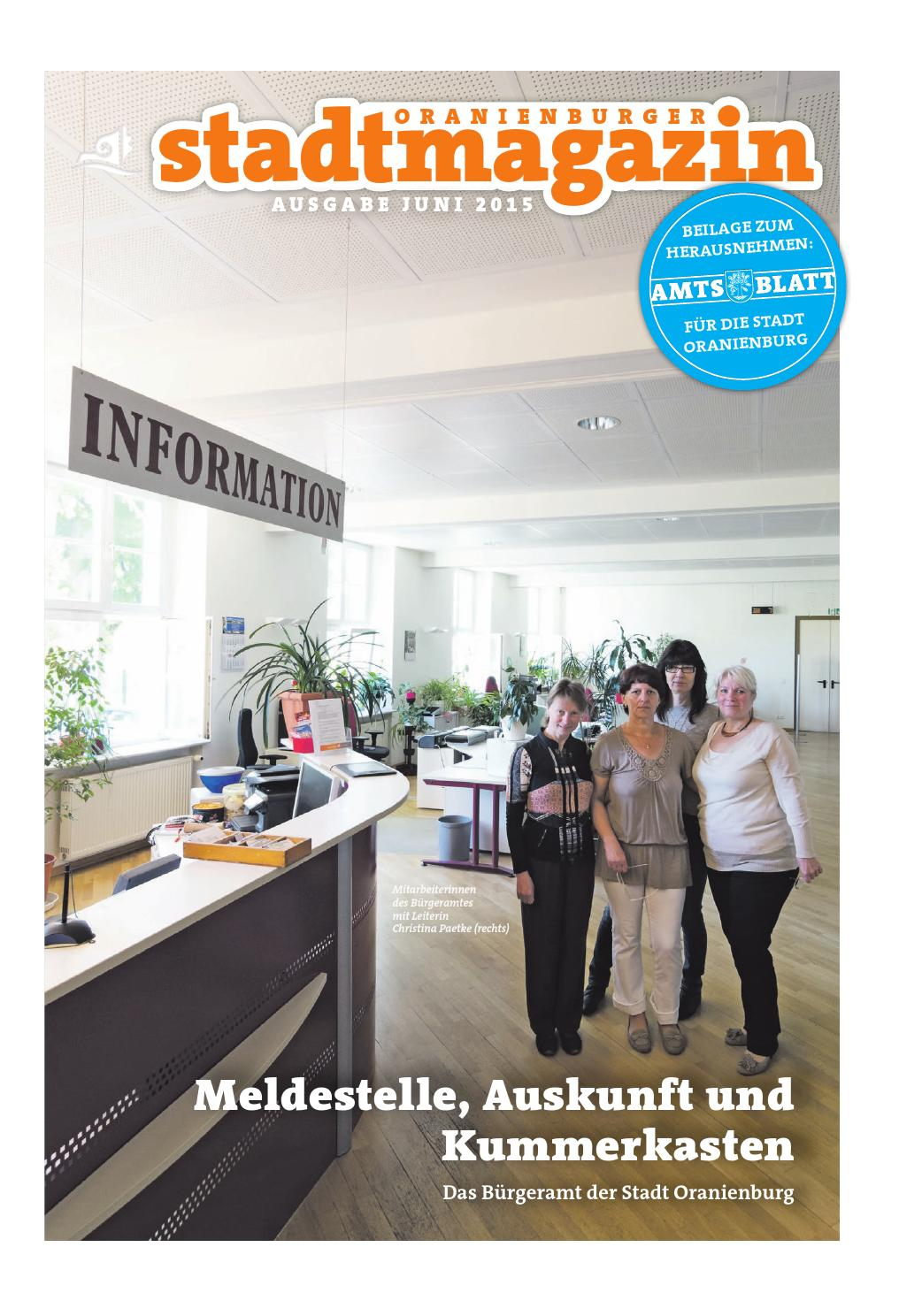 Oranienburger Stadtmagazin (Juni 2015) by Stadt Oranienburg - issuu