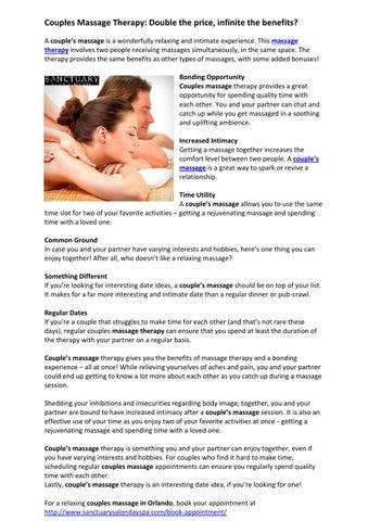 Benefits of dating a massage therapist