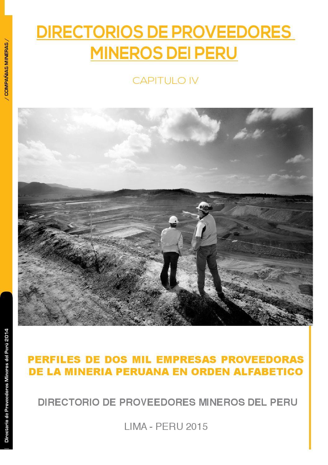 Capitulo 4 by Mineria Del Peru - issuu 7b9e5651e93