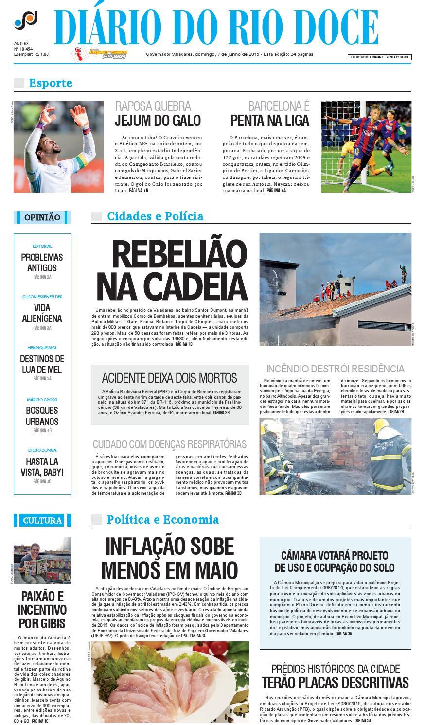 5f74d94a9e Diário do Rio Doce - Edição de 07 06 2015 by Diário do Rio Doce - issuu
