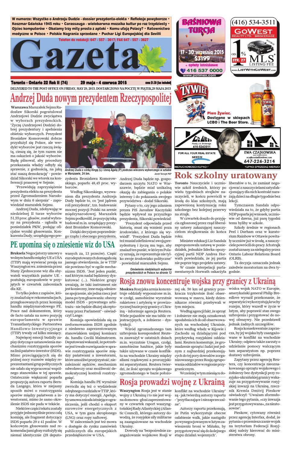 Gazeta 2015 22 By Gazetagazetacom Issuu