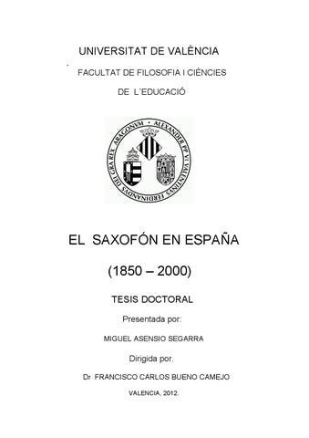 Tésis Doctoral de Miguel Asensio Segarra - EL SAXOFÓN EN ESPAÑA ... c8cc19b51af29