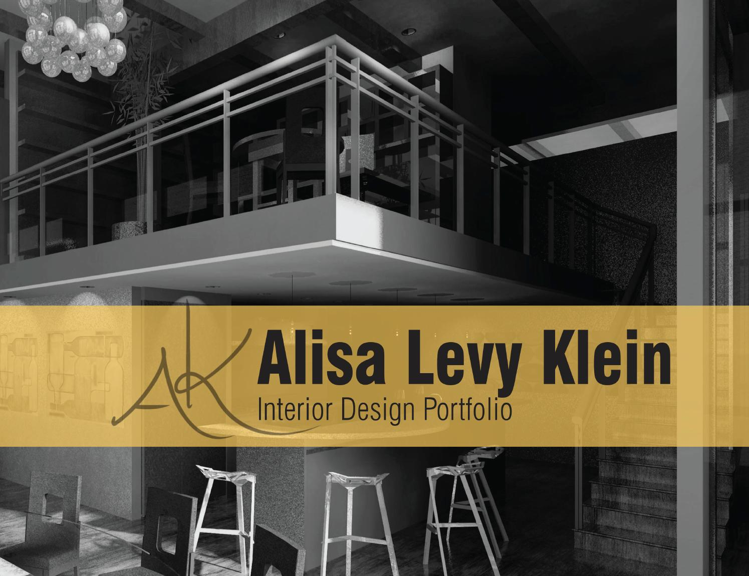 Interior design portfolio by alisa levy klein issuu for What does it take to become an interior designer