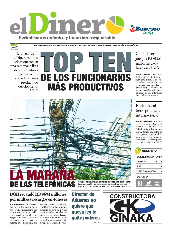 Periódico elDinero. Edicición 19 (08/06/20150 by Periódico elDinero ...
