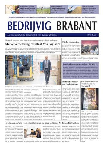 Bedrijvig Brabant Juni 2015 By Uitgeverij Talvi Issuu