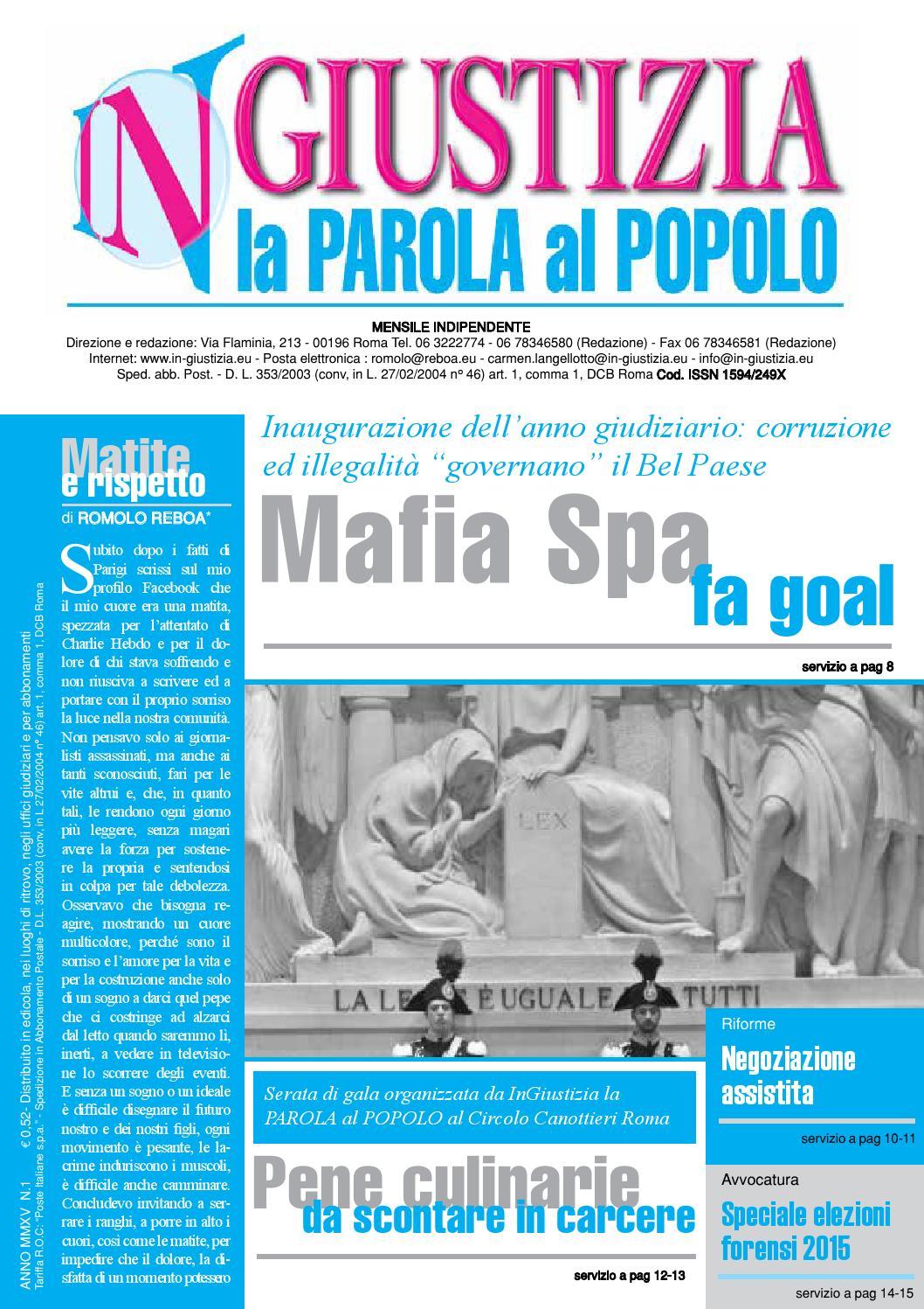 1 2015 Ingiustizia La Parola Al Popolo By InGiustizia La PAROLA Al