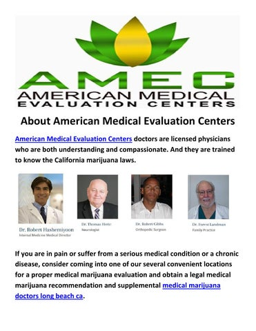 American Medical Evaluation Centers  Medical Marijuana Doctors Long