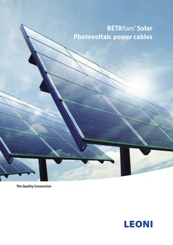 Leoni Betaflam SOLAR 2015 by Calpe Industrial Products - issuu