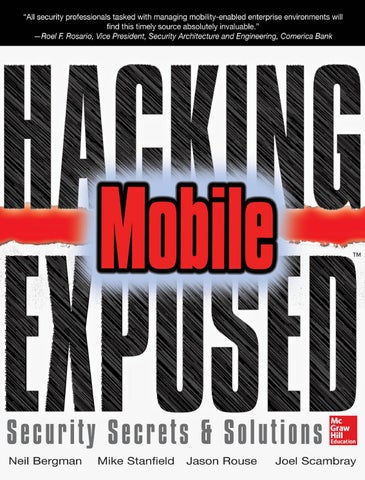 Hacking exposed mobile by hatty ebooks issuu hacking exposed mobile security secrets solutions fandeluxe Gallery