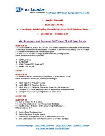 Download exam 70-462 ebook free