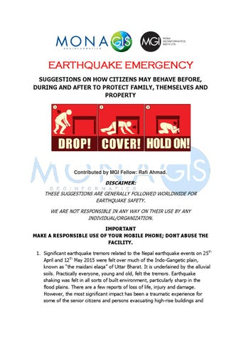Earthquake Before During And After