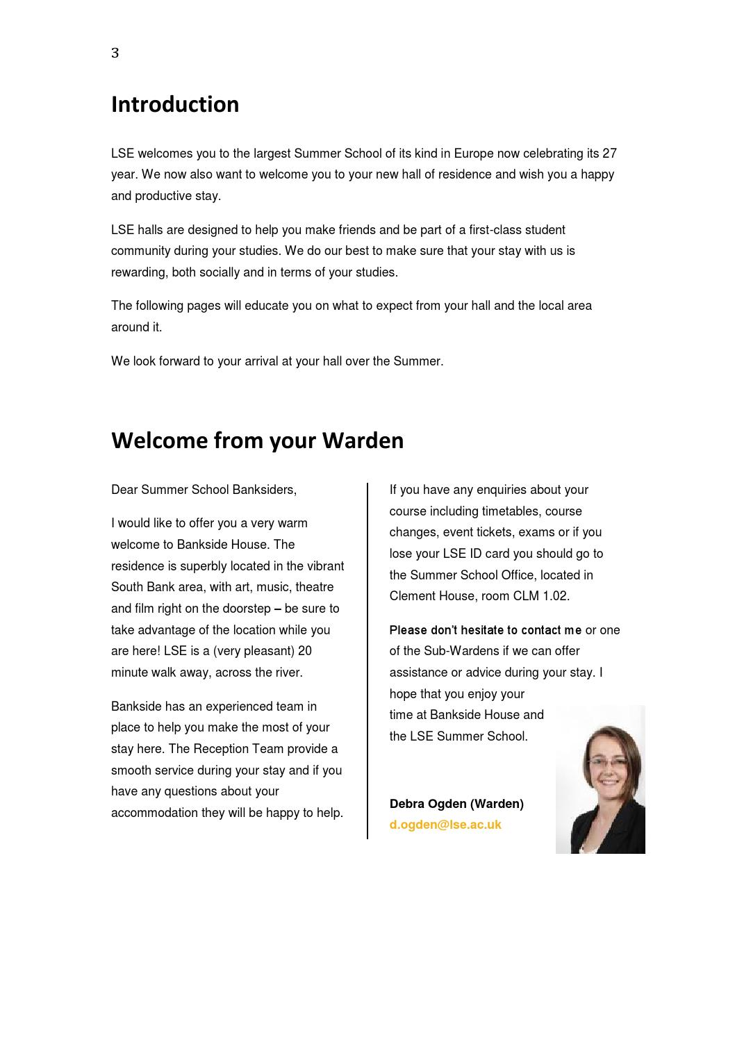 Bankside House Welcome Pack by London School of Economics