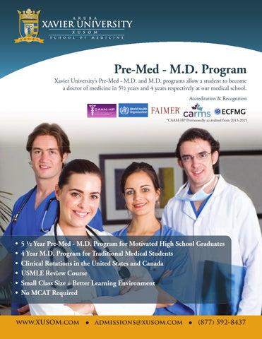 15726d0efbb Xavier University Pre-Med - MD Program by Xavier University School ...