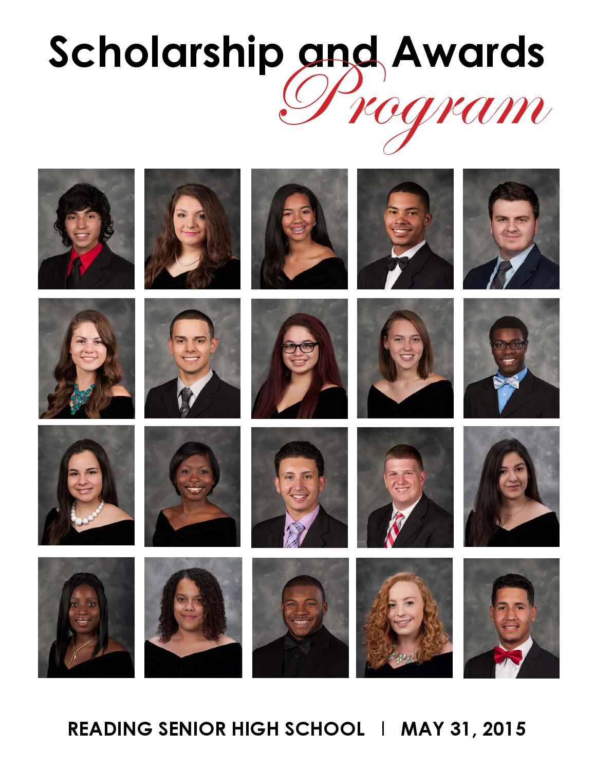 2015 rhs scholarship and awards program by reading school