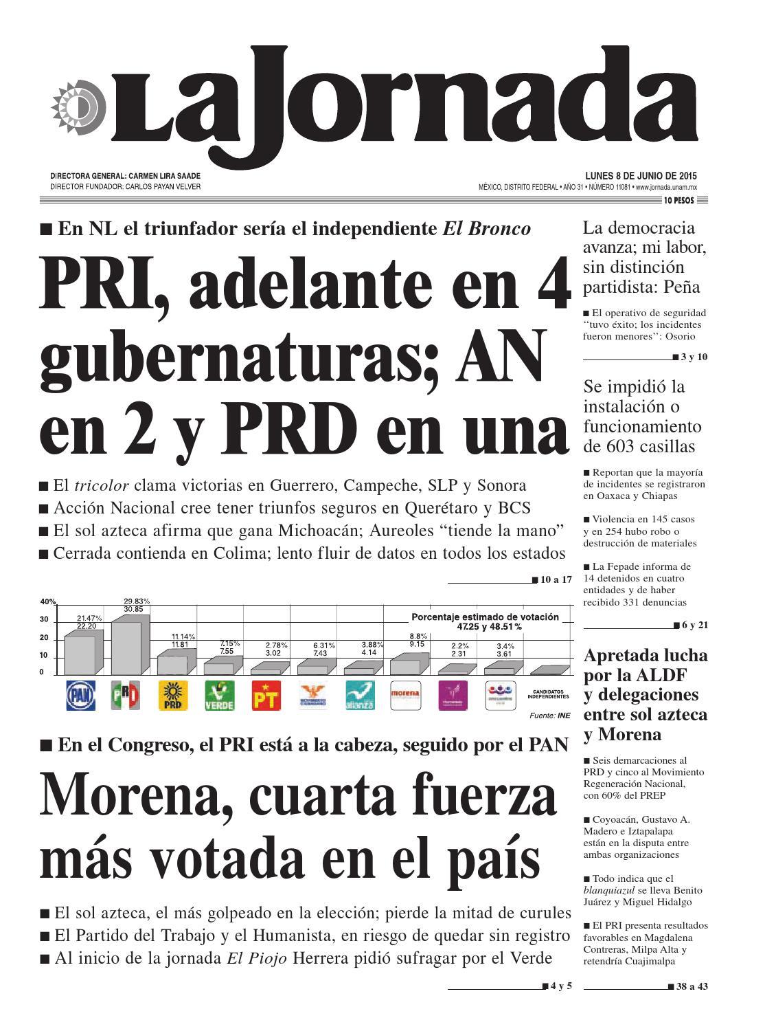 La Jornada, 06/08/2015 by La Jornada: DEMOS Desarrollo de Medios SA ...