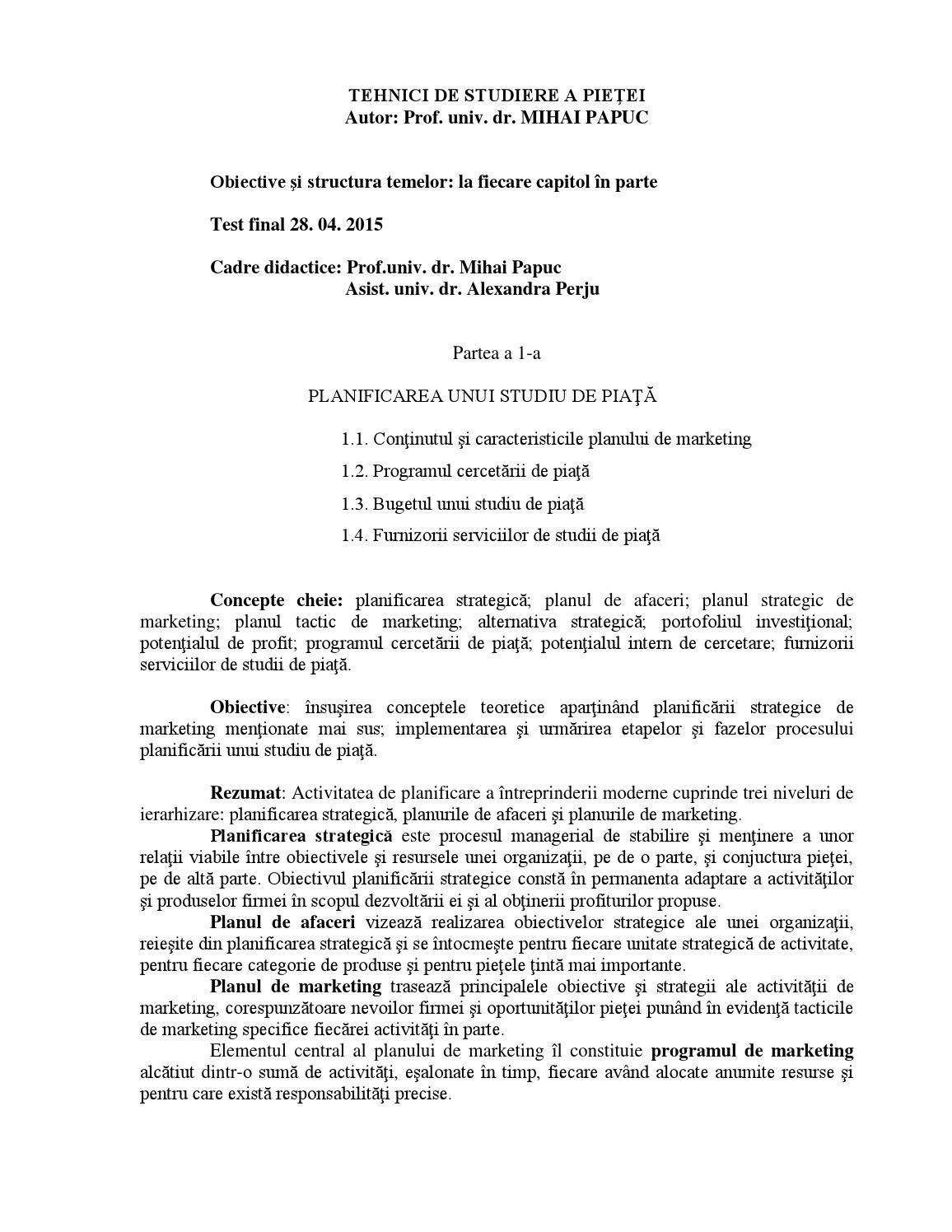 întrebări de testare a pieței de piață)