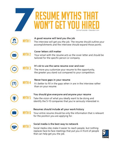 7 resume myths that won t get you hired by goodwill industries of