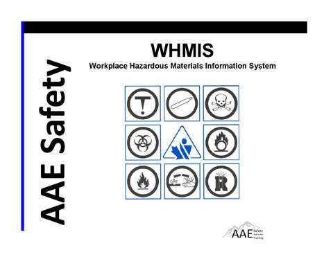 free whmis powerpoint training manual download by aae safety