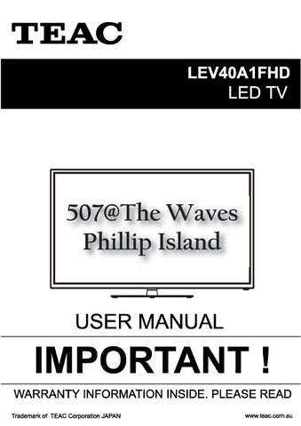 teac tv dvd combo user manual by 507 the waves issuu rh issuu com TEAC Reel to Reel Manuals TEAC Receiver Manual