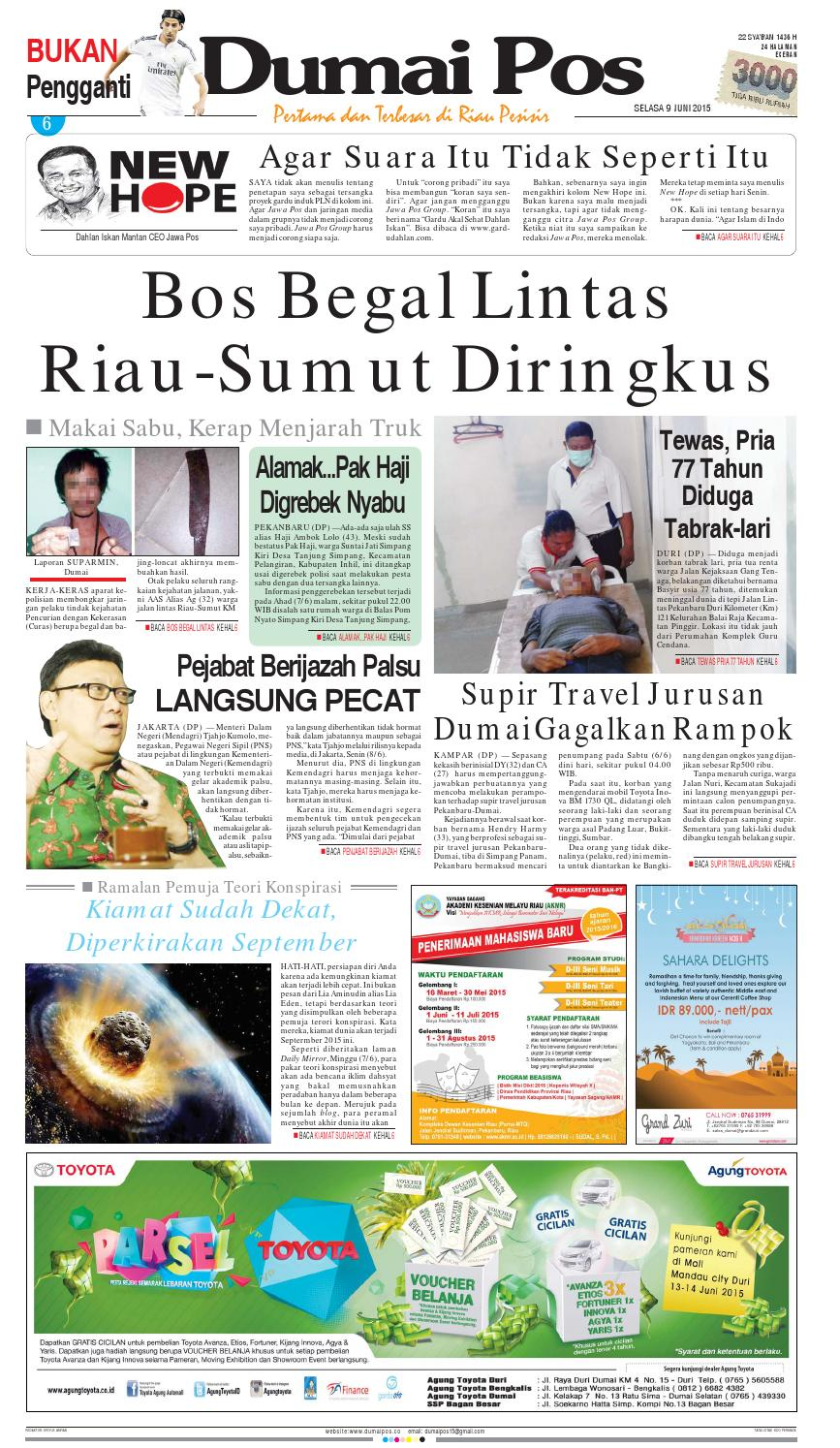 Dumaipos 9 Juni 2015 By Dumai Pos Issuu Produk Ukm Bumn Bunge Tanjung Betabur