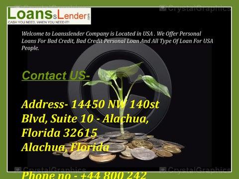 Personal Loans in Alachua, FL