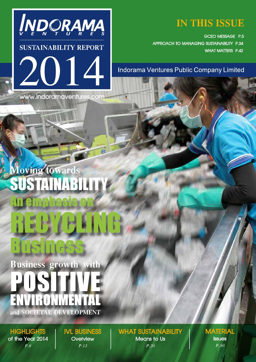 Sustainability Report 2014 by Indoramaventures company - issuu