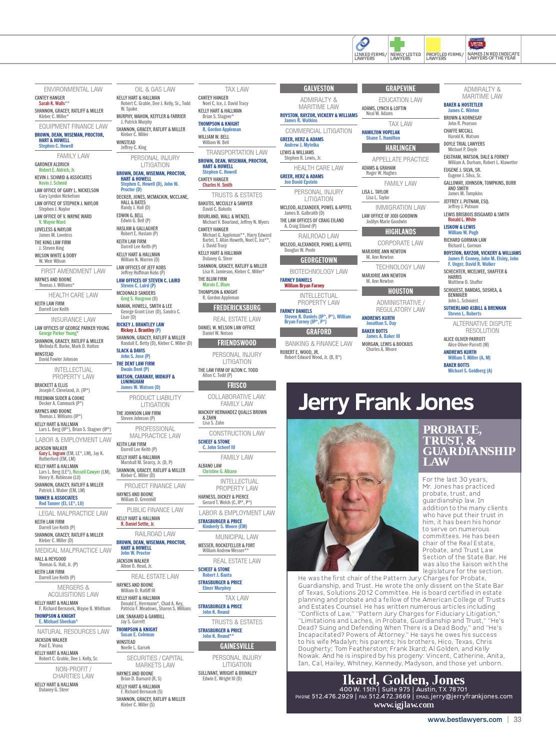 Best Lawyers in Texas 2015 by Best Lawyers - issuu