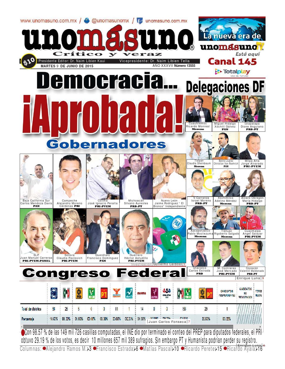 9 junio 2015 democracia aprobada by unom suno issuu for Adolfo dominguez mendez alvaro 9