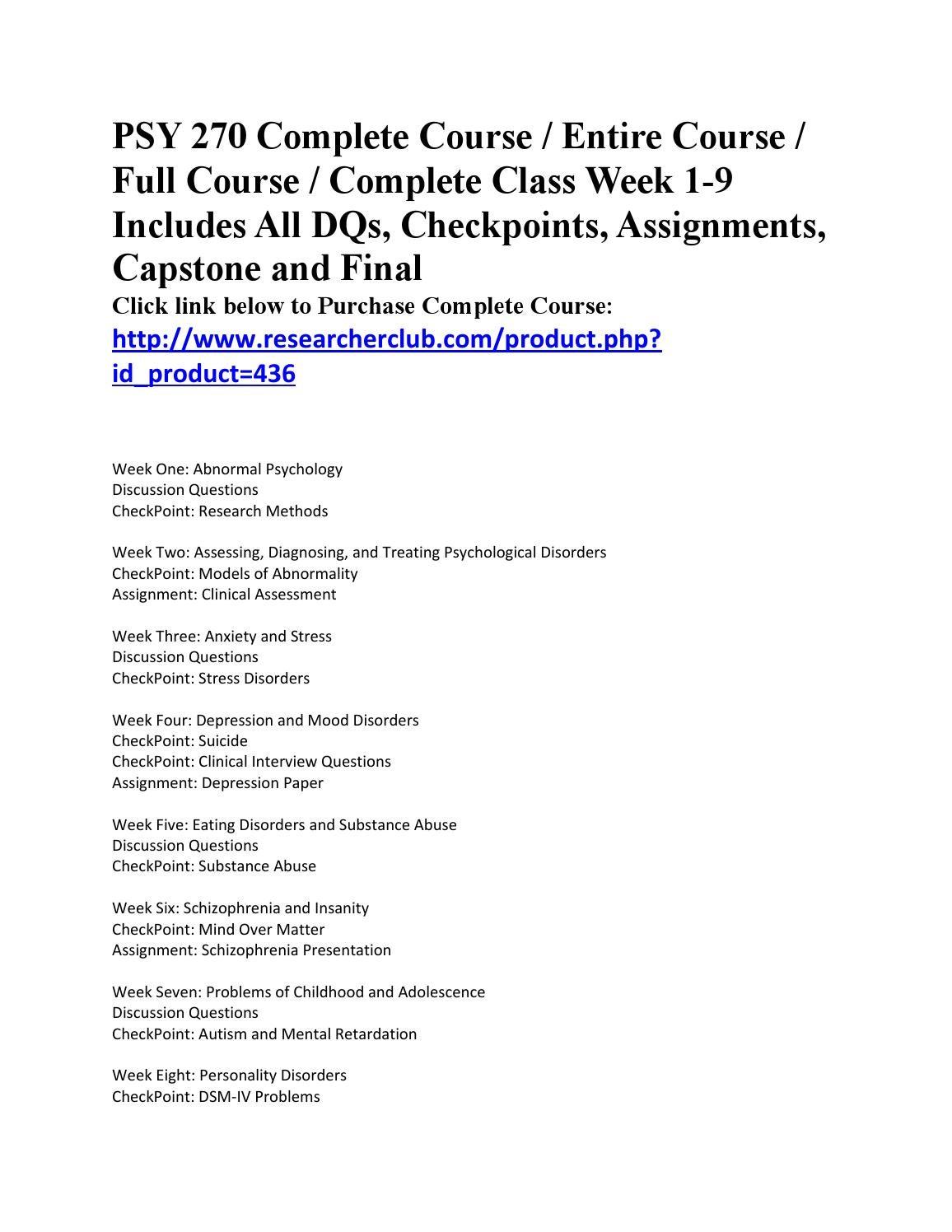 psy 270 clinical interview questions Study flashcards on psy 270 checkpoint clinical interview questions at cramcom quickly memorize the terms, phrases and much more we ensure that you will get a+ in the exam with wwwhwtutorialscom psy 270 checkpoint clinical interview questions http.