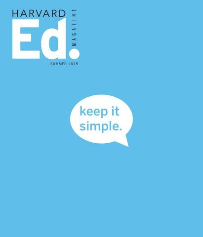 a30277e99 Harvard Ed. Magazine, Summer 2015 by Harvard Graduate School of ...