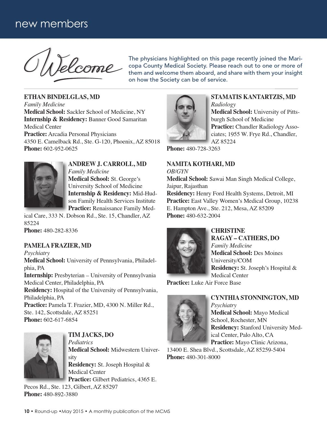 Round-up Magazine May 2015 by Maricopa County Medical Society - issuu
