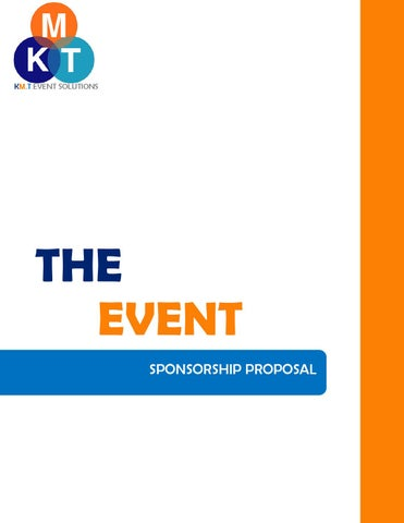 The Event Sponsorship Proposal By Menna Hikal Issuu
