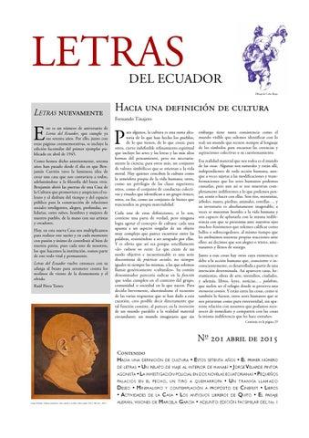 Letras del Ecuador N 201 by Revistas de la Casa de la Cultura ...