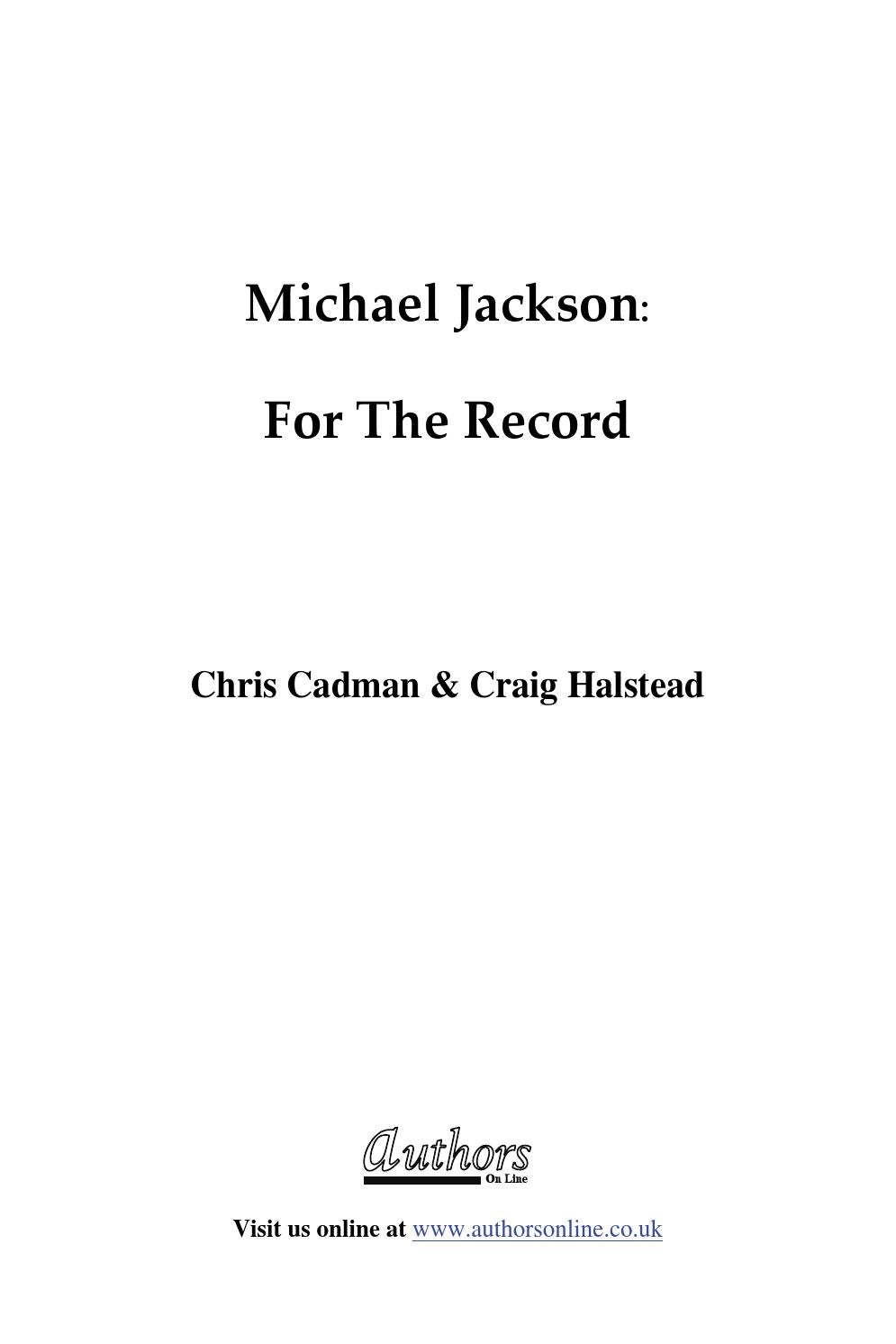 For the record by MJ - Collection - issuu