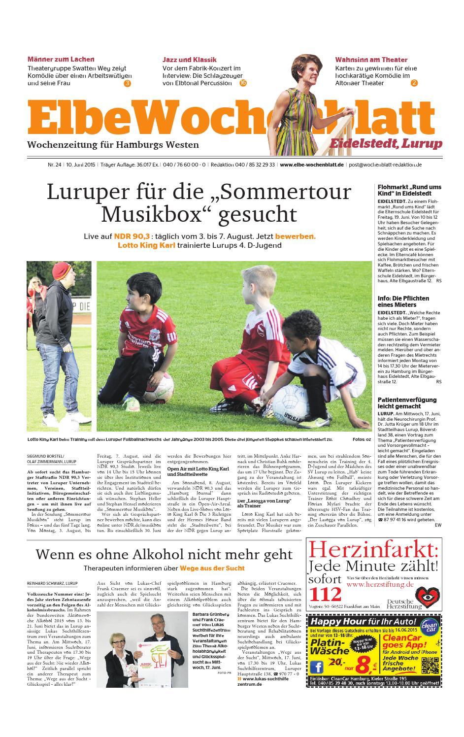 Eidelstedt KW24-2015 by Elbe Wochenblatt Verlagsgesellschaft mbH & Co.KG -  issuu