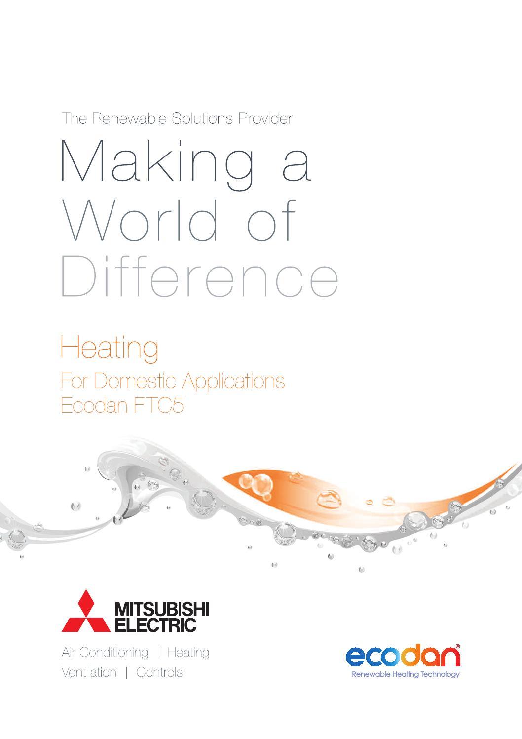 mitsubishi ecodan heat pump domestic heating brochure by