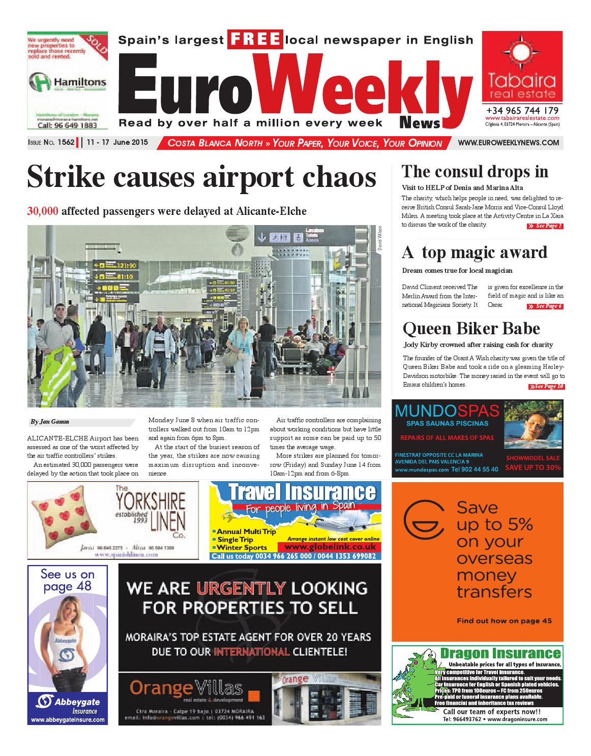 Euro Weekly News Costa Blanca North 11 17 June 2015 Issue 1562
