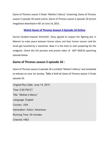 torrent game of thrones season 5 episode 1