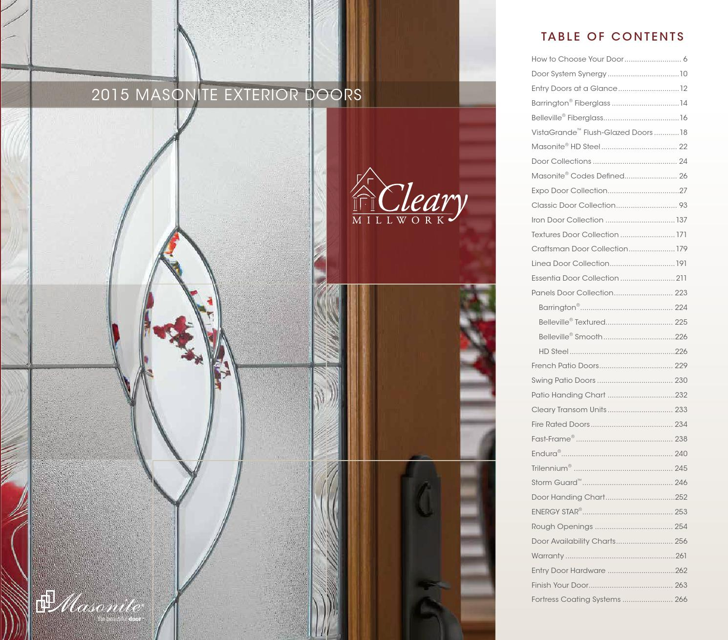 Masonite Exterior Doors 2015 by clearymillwork - issuu
