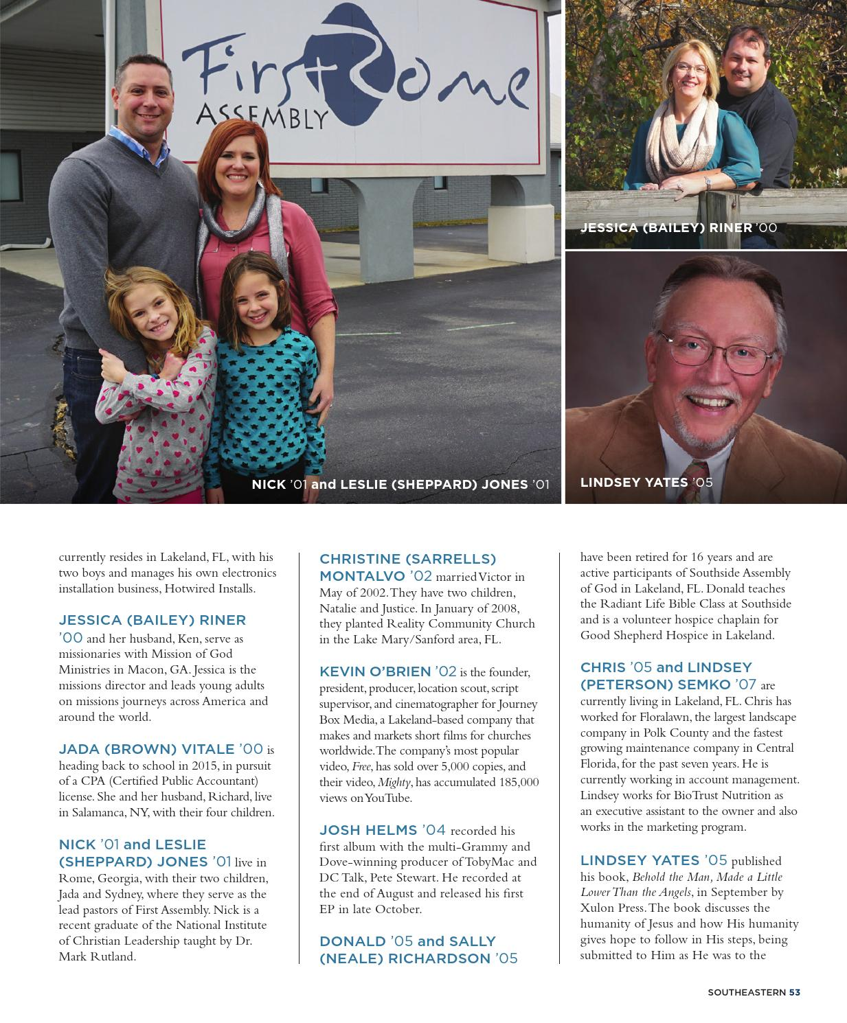 Winter 2015 by Southeastern University - issuu