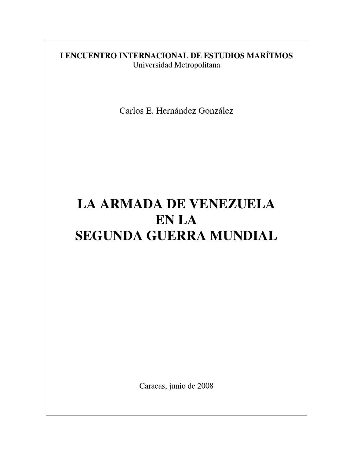La Armada de Venezuela en la 2GM by Biblioteca Virtual CN Ramón ...