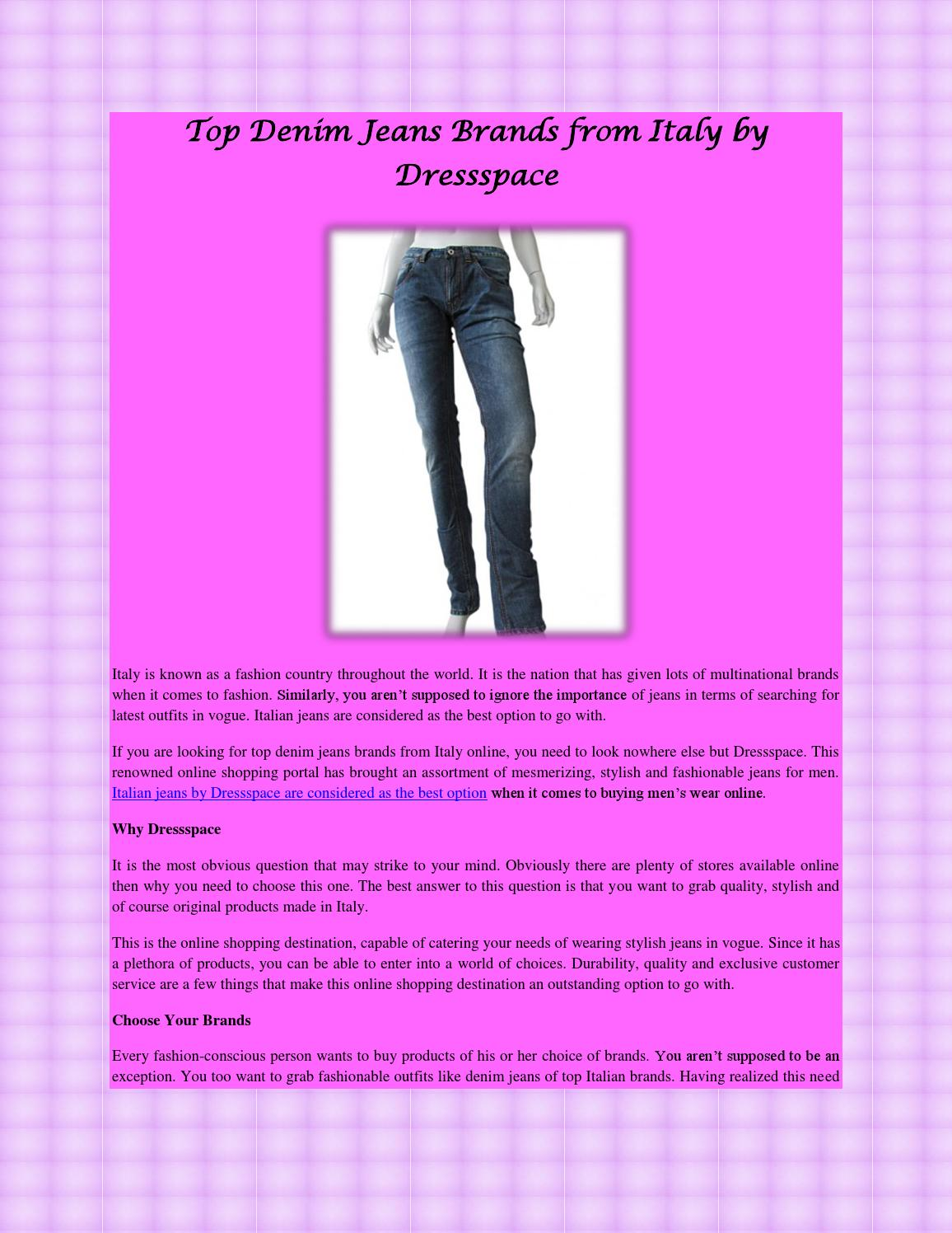 8358c7036b Top denim jeans brands from italy by dressspace by dressspace - issuu