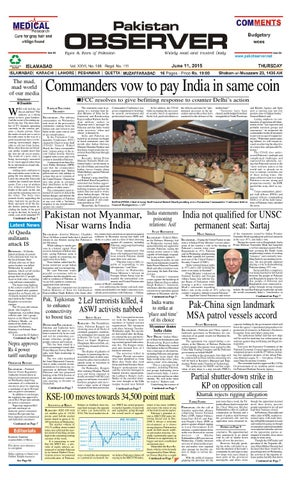 Ep11june2015 by Pakistan Observer - issuu