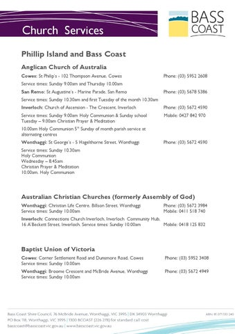 Anglican Phillip Island