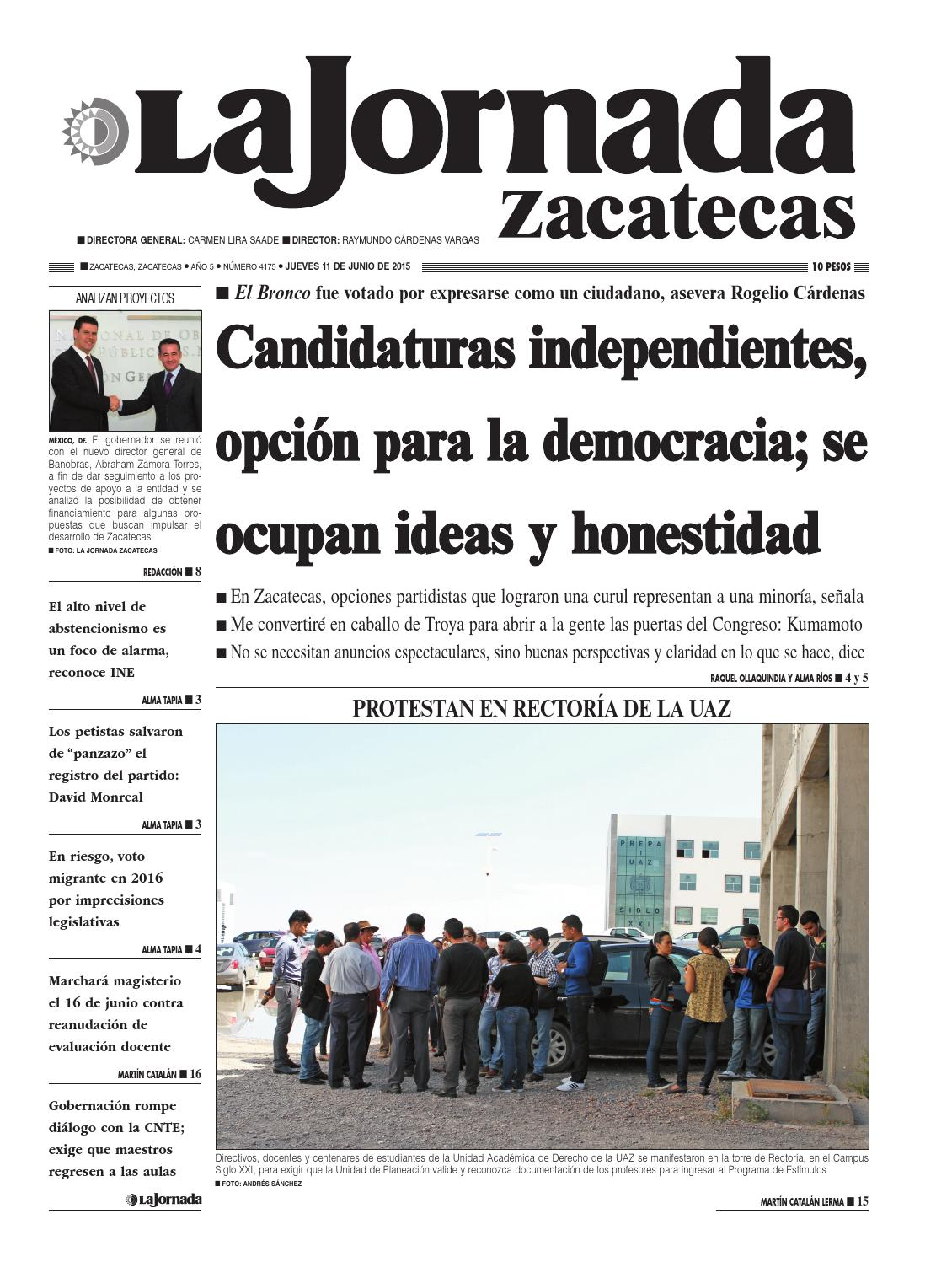 La Jornada Zacatecas, jueves 11 de junio del 2015 by La Jornada ...