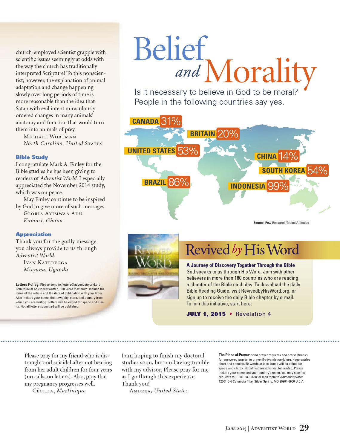 Adventist World - June 13, 2015 by Adventist Record - issuu