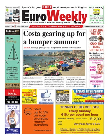 910c945ef16 Euro Weekly News - Costa del Sol 11 - 17 June 2015 Issue 1562 by ...