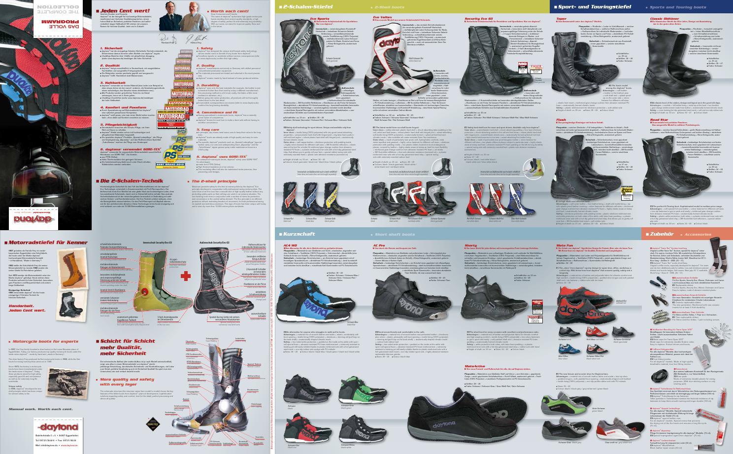"Schuhe Motorradstiefel Daytona /""Shorty/"" Kurzschaftstiefel in Größe 38"
